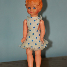 Papusa vintage Italia anii '60, colectie, 17 cm, vinil, hainele originale,