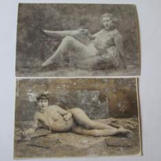 2 FOTOGRAFII EROTICE ANII 20 - Fotografie, Alb-Negru, Portrete, Europa
