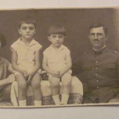 GE - Ilustrata fotografie veche Craiova familie ofiter 1928 necirculata