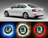 NOU! Emblema LED Skoda 82-88mm tunning auto piese