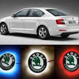 NOU! Emblema LED Skoda 82-88mm tunning auto piese