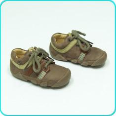 DE FIRMA → Pantofiori din piele, pentru primii pasi, ELEFANTEN → copii | nr. 19, Unisex, Maro