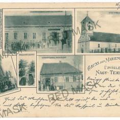 3044 - Litho, Timis, TEREMIA MARE - old postcard - used - 1902 - Carte Postala Banat pana la 1904, Circulata, Printata