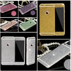Folie iPhone 6 6S Sticker Diamond Full Body Silver - Folie de protectie Apple