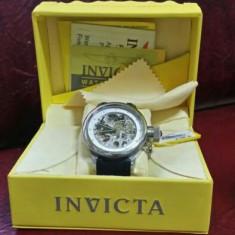 Ceas invicta - Ceas barbatesc Invicta, Mecanic-Manual, Titan, Cauciuc, 100 m / 10 ATM