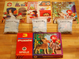 3 Puzzle-uri povesti fratii Grimm anii '70, West Germany, 30 piese fiecare