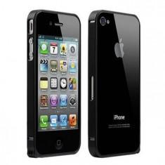 Bumper iPhone 4 4S Aluminiu 0.7mm Black
