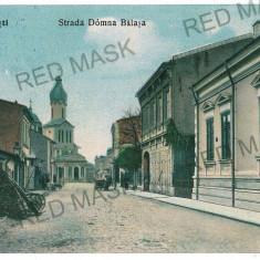 70 - Arges, PITESTI, street Doamna Balasa - old postcard - used - 1910 - Carte Postala Muntenia 1904-1918, Circulata, Printata