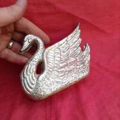 Suport de servetele din alama sub forma de lebada !!! - Metal/Fonta, Ornamentale