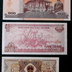 LOT 3 BANCNOTE CAMBOGIA CHINA SI VIETNAM UNC ** - bancnota asia