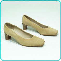NOI, DE FIRMA → Pantofi piele, comozi, frumosi, calitate ARA → femei | nr. 39 ½ - Pantof dama Ara, Culoare: Bej, Marime: 39 1/3, Piele naturala, Cu toc