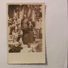 GE - Ilustrata fotografie veche Braila familie ofiter exterior 1935 necirculata