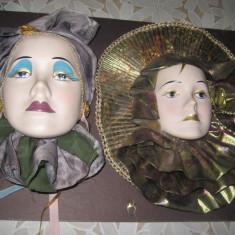 JUCARII COPII VECHI-VINTAGE3. Aplice tinere femei costum carnaval cap ceramica.