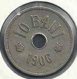 ROMANIA  10 BANI 1906 ,  litera J - Monetaria Hamburg  [9]  livrare in cartonas, Cupru-Nichel