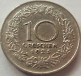 Moneda 10 Groschen - AUSTRIA, anul 1925 *cod 2998 vF, Europa