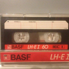 Casete Audio BASF LH-EI 60 min - IEC I  - made in W.GERMANY
