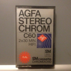 Casete Audio AGFA STEREO CHROME C 60 - 2X30MIN HIFI - made in GERMANY