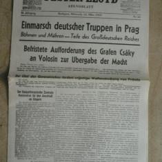 WWII-TRUPE GERMANE IN PRAGA -15 MARTIE 1939 -INVAZIA CEHOSLOVACIEI -ZIAR MAGHIAR