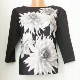 Bluza model floral, noua, made in Italy, marimea L