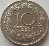 Moneda 10 Groschen - AUSTRIA, anul 1925 *cod 2999 xF, Europa