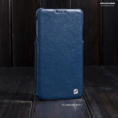 Husa PIELE NATURALA HOCO DUKE ORIGINALA, SAMSUNG NOTE 3, flip lateral, ALBASTRU - Husa Telefon Hoco, Samsung Galaxy Note 3