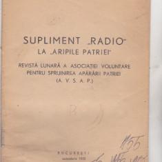 Bnk div AVSAP - Supliment radio la Aripile Patriei - 1955