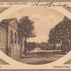 CRAIOVA, BULEVARDUL MIHAI BRAVU, CIRCULATA APR.''914 - Carte Postala Oltenia 1904-1918, Printata