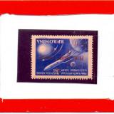 ROMANIA 0015=1959-Prima racheta cos in luna,timbru nestampilat cu supratipar,MNH