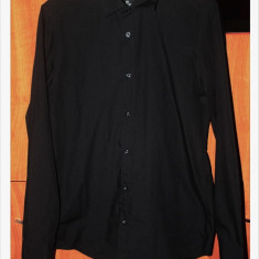 Camasa neagra H&M pentru barbati - Camasa barbati H&m, Marime: S, Culoare: Negru, Maneca lunga