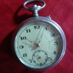 Ceas buzunar Anglia, d=4 cm fara cadran, lipsa remontor - Ceas de buzunar vechi