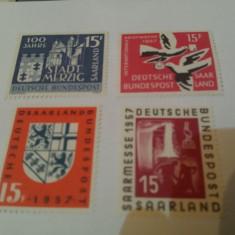 Germania/saar 1957 / 4 serii MNH - Timbre straine, Nestampilat
