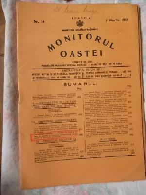 MONITORUL OASTEI -NR.34 -20 MARTIE 1935 foto
