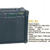 BOXA KARAOKE ACTIVA CU MIXER SI EQ, MICROFON WIRELESS, SUNET HI FI 35w. - Echipament karaoke