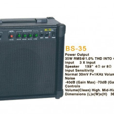 BOXA KARAOKE ACTIVA CU MIXER SI EQ,MICROFON WIRELESS ,SUNET HI FI 35w.
