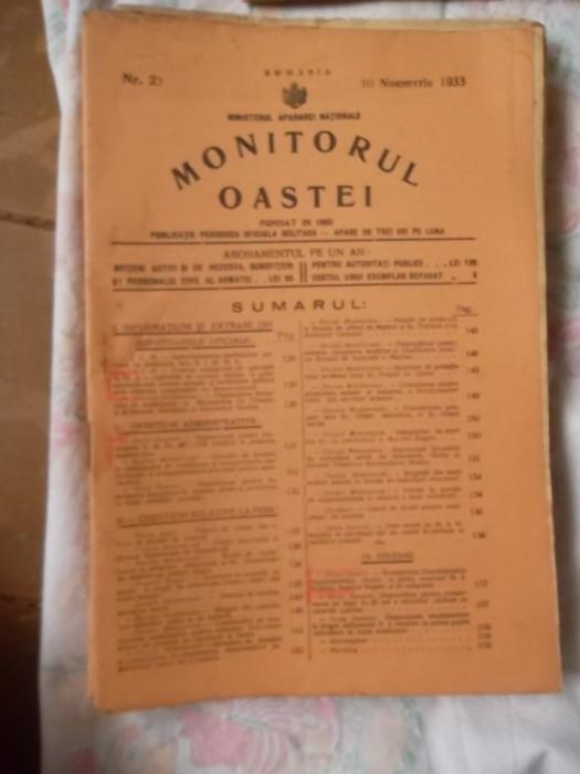 MONITORUL OASTEI -NR.23-10-NOEMVRIE  1933