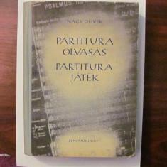 "PVM - NAGY Oliver ""Partitura OLVASAS Partitura JATEK""  in limba maghiara 1954"