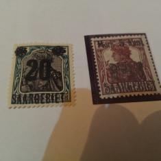 Germania/saar 1921 uzuale supratipar / 4 v. MH, Nestampilat