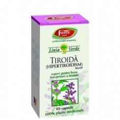 TIROIDA 60CPS FARES- HIPERTIROIDISIM