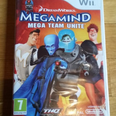 JOC WII DREAMWORKS MEGAMIND MEGA TEAM UNITE SIG ORIGINAL PAL / by DARK WADDER - Jocuri WII Thq, Actiune, 3+, Multiplayer