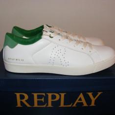 Adidasi Replay Mr Murray Mens Trainers nr. 40 43 44 - Adidasi barbati Replay, Culoare: Alb, Piele naturala
