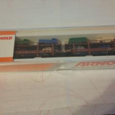 VAGON ARNOLD 4990 Autotransporter der DB mit 8 Auto - Macheta Feroviara Alta, N, Vagoane