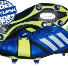 Ghete fotbal Adidas Nitrocharge 3.0 - adidasi originali - ghete barbat, Marime: 40 2/3, Culoare: Albastru, Barbati, Iarba: 1