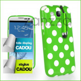 Husa Samsung Galaxy S3 i9300 + Folie protectie display si stylus CADOU VERDE, Gel TPU