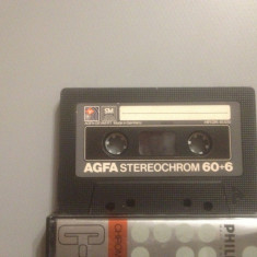 Casete Audio AGFA STEREOCHROM   60 +6 min - IEC II - made in W.GERMANY