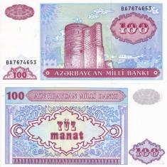 AZERBAIDJAN 100 manat 1993 UNC!!! - bancnota asia