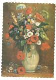 @carte postala(cod 0127/92) -FELICITARE-Vas cu flori, Necirculata, Printata