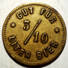 D.001 JETON BERE GUT FUR 3/10 LITER BIER G. ST. 23mm - Jetoane numismatica