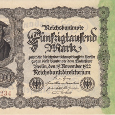 BANCNOTE 50000 MARCI, 19 NOIEMBRIE 1922, PACHET BANCAR, AUNC, 19 BUC. - bancnota europa