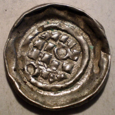 G.290 ITALIA MILANO ENRICO II DENAR 1004 1024 ARGINT 1, 02g/18mm - Moneda Medievala, Europa