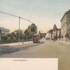 SIBIU, HERMANNSTADT . SCHEWISGASSE, CIRCULATA JUN. ''909 - Carte Postala Transilvania 1904-1918, Printata